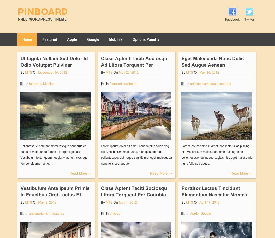 Pinboard-WPTheme