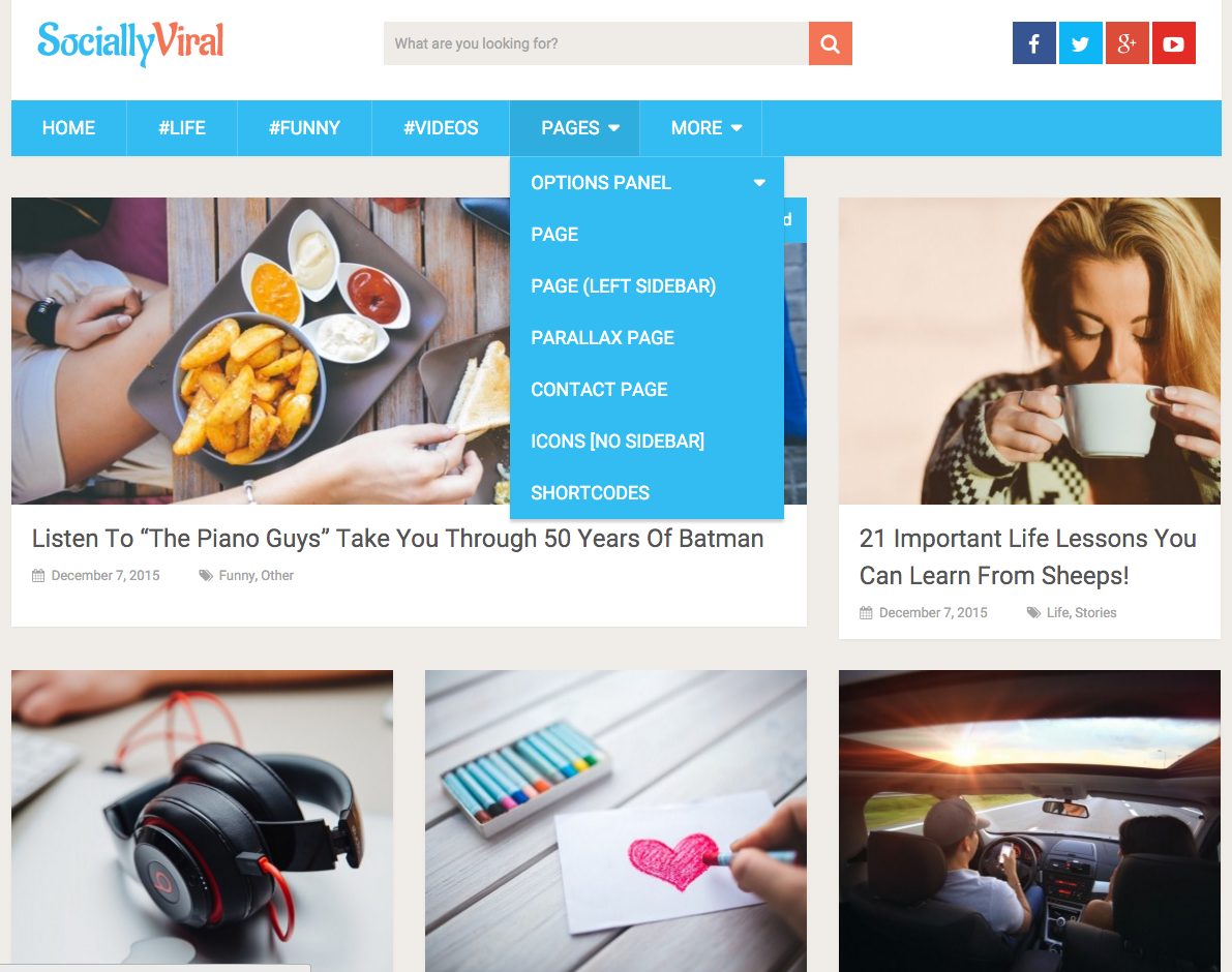 Socially Viral WP Theme
